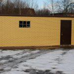 фасадные панели для гаража под кирпич