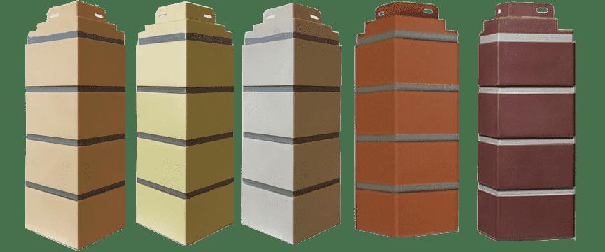 Углы для фасадных панелей под кирпич Steindorf