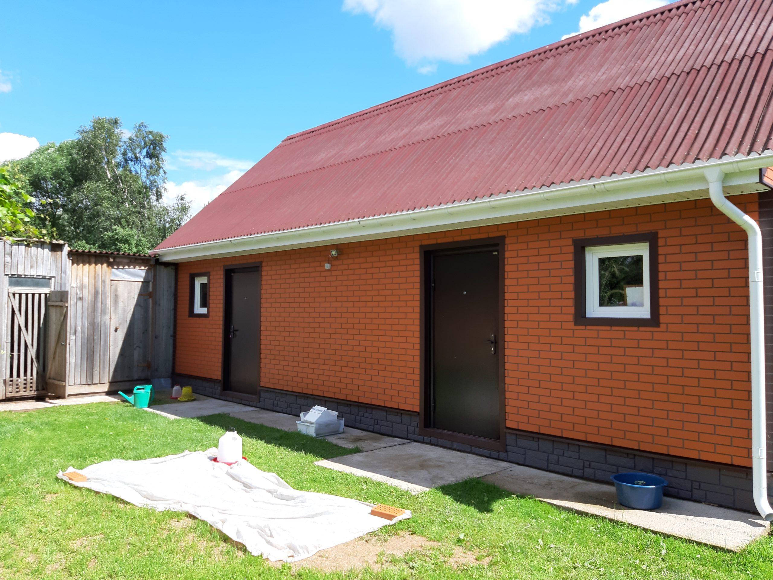 Фасадные панели BrickPanel на доме